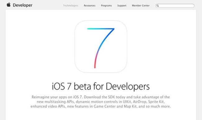 iOS 7 beta