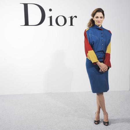 Sofia Sanchez Barrechenea en el desfile de Dior