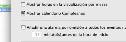 iCal Cumpleaños