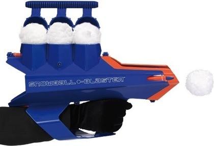 La pistola de bolas de nieve