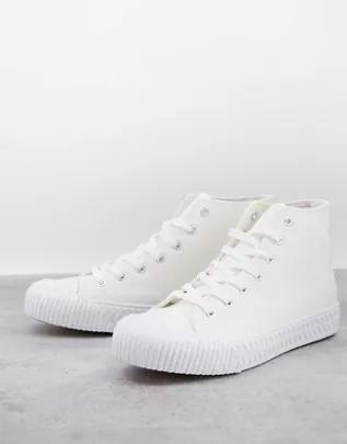 Zapatillas de deporte blancas hi-top de lona Wilson de schuh