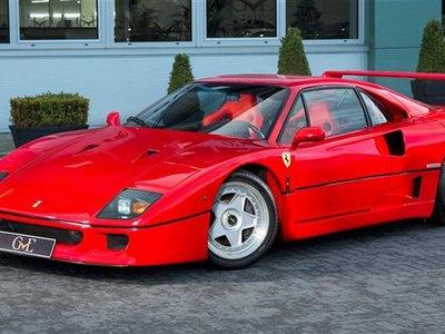 El Ferrari F40 de Eric Clapton puede ser tuyo por poco más de un millón de euros