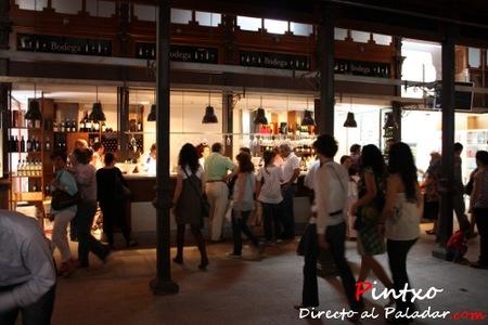 Mucha importancia de las  bodegas en el Mercado de San Miguel en Madrid