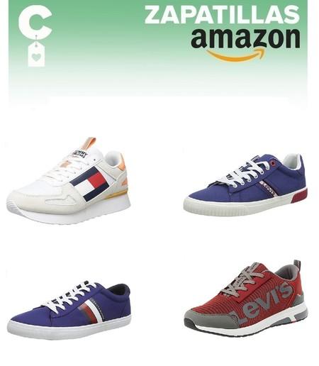13 chollos en tallas sueltas de zapatillas Tommy Hilfiger y Levi's en Amazon por menos de 40 euros