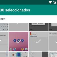 WhatsApp para Android ahora te permite enviar hasta 30 fotos de golpe
