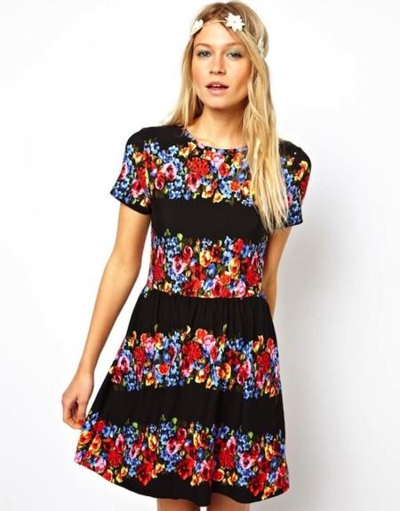 vestido print floral
