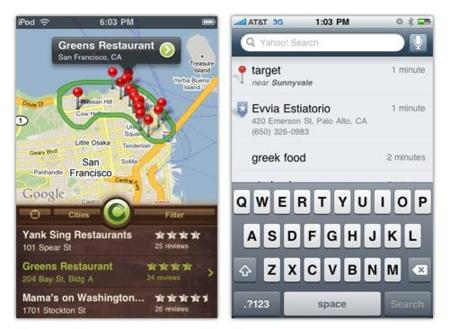 Yahoo lanza Search y Sketch a Search para iPhone