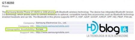 Nexus Prime Bluetooth Cert