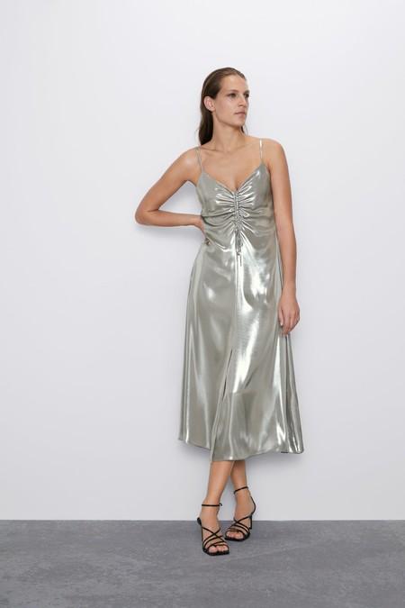 Vestido Plateado Zara 6