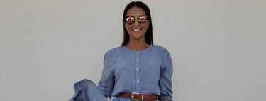 Paula Echevarría nos encanta con sus dos últimos looks pero su bolso de rafia nos ha enamorado