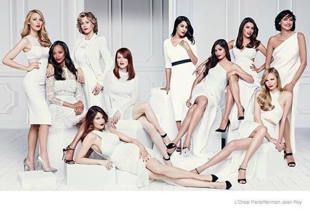 De blanco y rojo, así se presentan las embajadoras de L'Oréal Paris