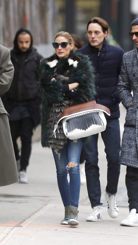 Olivia palermo abrigo gris