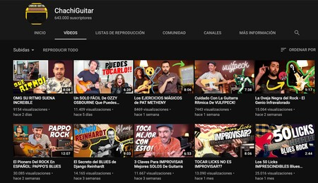 Chachiguitar Youtube