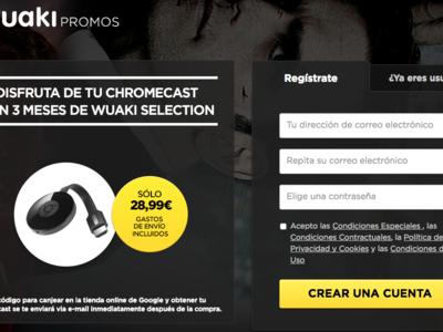 Vuelve la oferta: 3 meses de Wuaki Selection + Google Chromecast por 28,99 euros