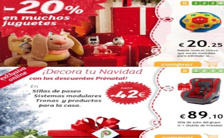 Prenatal tiene rebajas on-line en vísperas de Navidad
