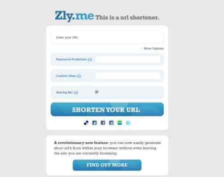 Zly.me, sencillo acortador de direcciones