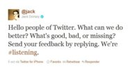 Jack Dorsey quiere tu opinión sobre Twitter