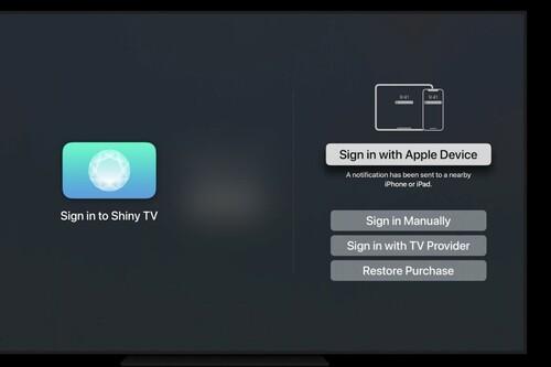 tvOS 15 nos permitirá iniciar sesión en aplicaciones usando Face ID o Touch ID desde un iPhone
