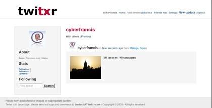 Twitxr, sistema de microblogging con geolocalización de fotografías