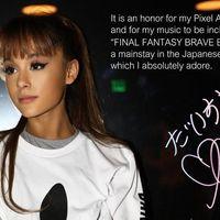 Un vídeo y unas imágenes nos muestran cómo será el personaje de Ariana Grande en Final Fantasy: Brave Exvius