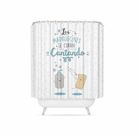 cortina de ducha alegre