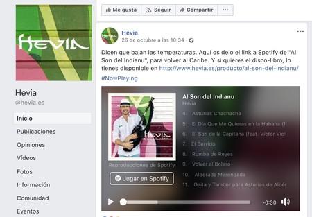 Hevia Facebook