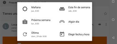 Cómo posponer un correo con Gmail para Android