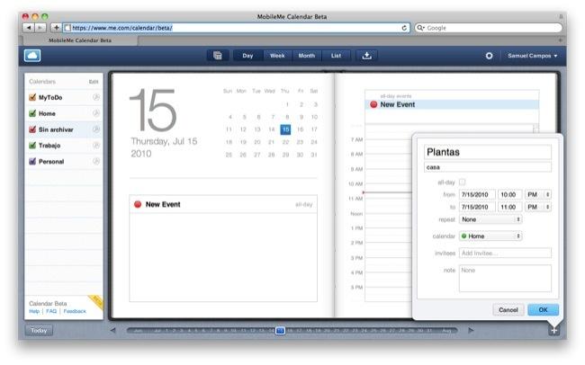 Foto de MobileMe Calendario (1/8)