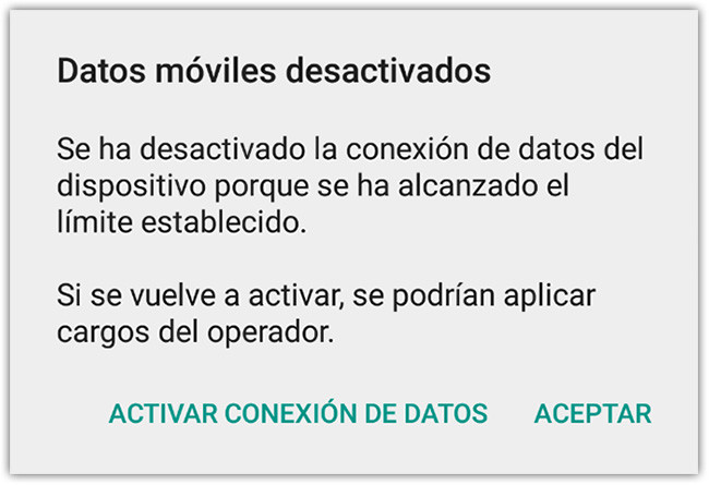 Data Mobile Deactivated