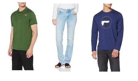Chollos en tallas sueltas de pantalones, polos y camisetas de marcas como The North Face, Levi`s o Pepe Jeans en Amazon por menos de 30 euros
