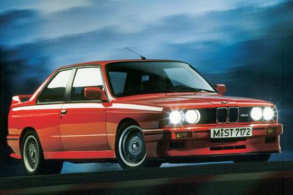 David Abad con su BMW M3 E30