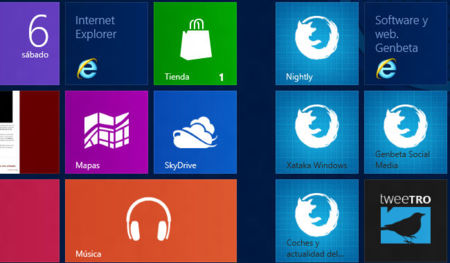 Firefox Modern UI mosaico