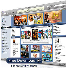 Éxito de las películas en la tienda iTunes