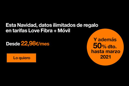 Orange regala datos ilimitados por Navidad en las tarifas de fibra y móvil