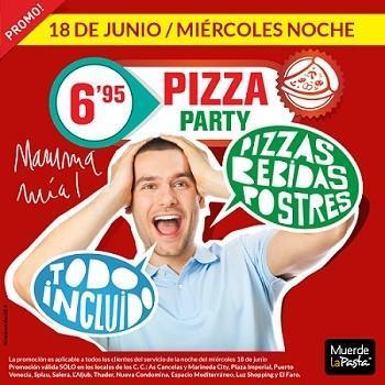 Muerde la Pasta repite su 'Pizza Party' este miércoles 18 de junio