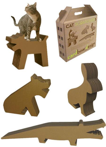 Rascadores para gatos con forma de animalitos