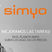 Simyo vuelve a incrementar hasta 3 GB gratis sus tarifas