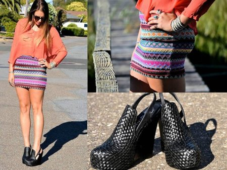 Moda en la calle naranja azteca