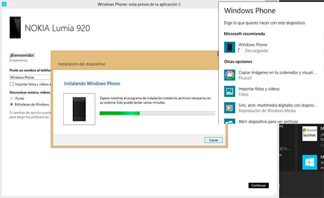 Instalación del Lumia 920