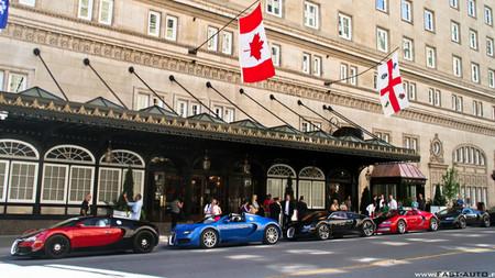 Bugatti Veyron, de cinco en cinco
