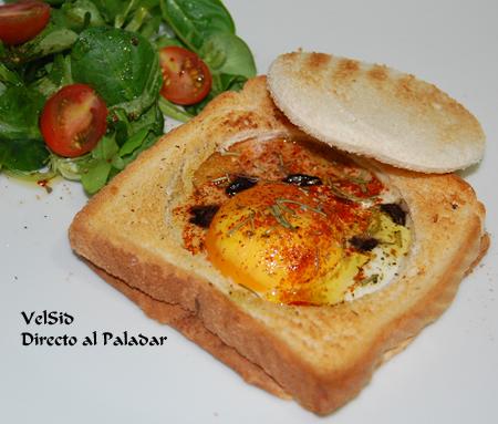 Sandwich de huevo frito