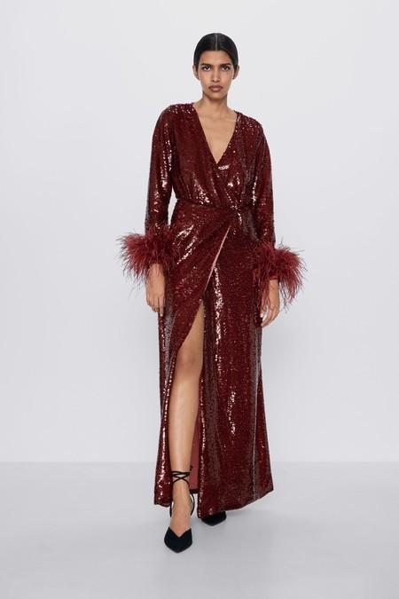 Vestido Lentejuelas Zara