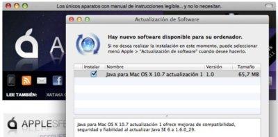 Actualización Java para Mac OS X Lion y Snow Leopard disponible