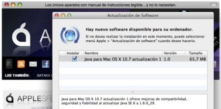 Actualización Java para Mac OS X Lion y Snow Leopard disponible