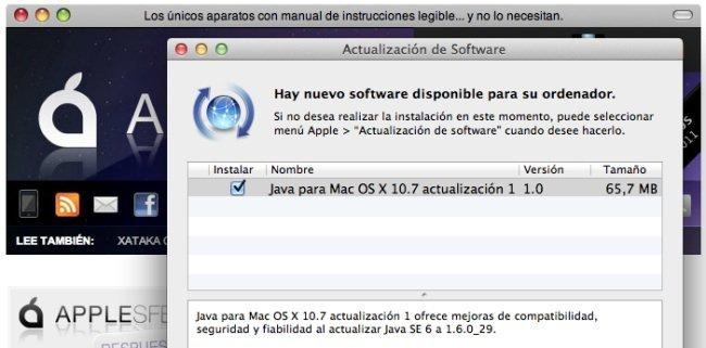 Java para OS X Lion y Snow Leopard