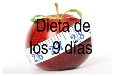 Dieta de los 9 días. Análisis de dietas milagro (XL)
