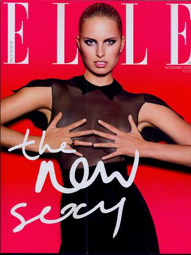 Karolina Kurkova en la portada de noviembre de Elle UK