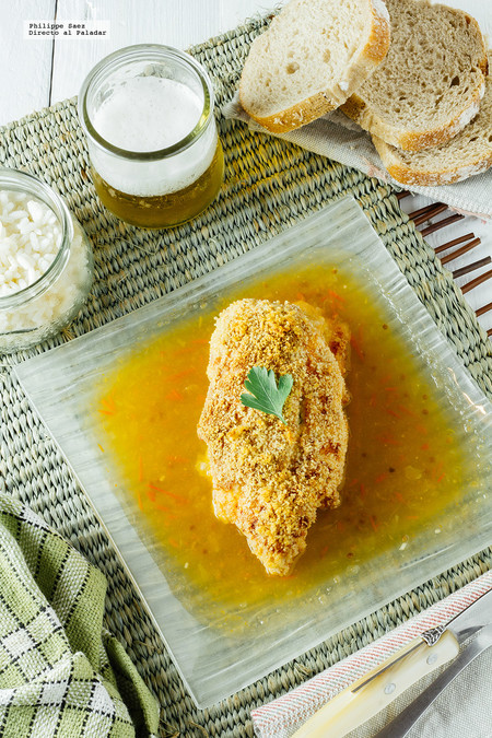 Pechugas de pollo a los tres quesos. Receta fácil y deliciosa