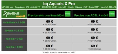 Precios Bq Aquaris X Pro Con Pago A Plazos Y Tarifas Amena