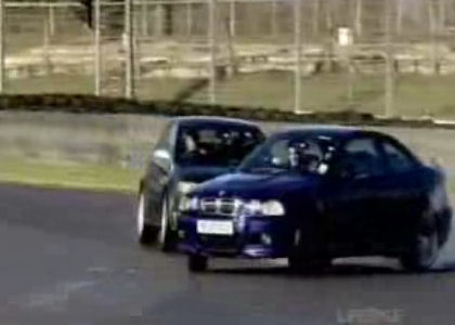 Aprendiendo a driftear con un BMW M3 y un Audi RS4